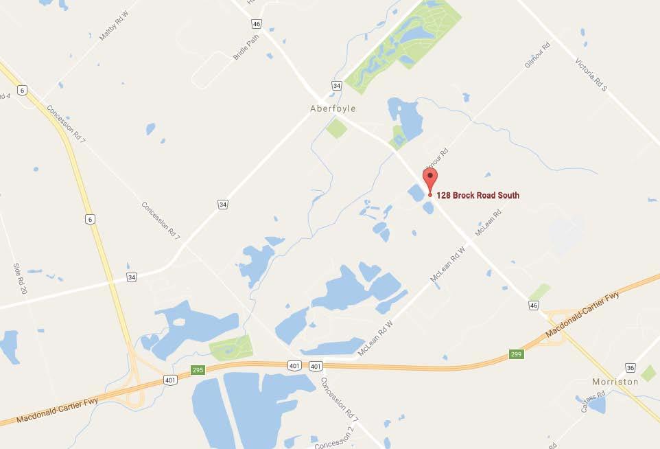 128 Brock Rd S - Map